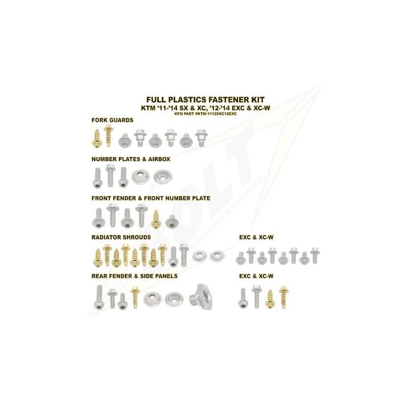 BOLT KIT VIS PLAST. KTM11-13 SX/XC 12-13 XC-W/EXC