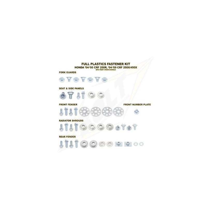 BOLT KIT VIS PLAST. HONDA04-05 CRF250R 04-13 CRF250X/450X