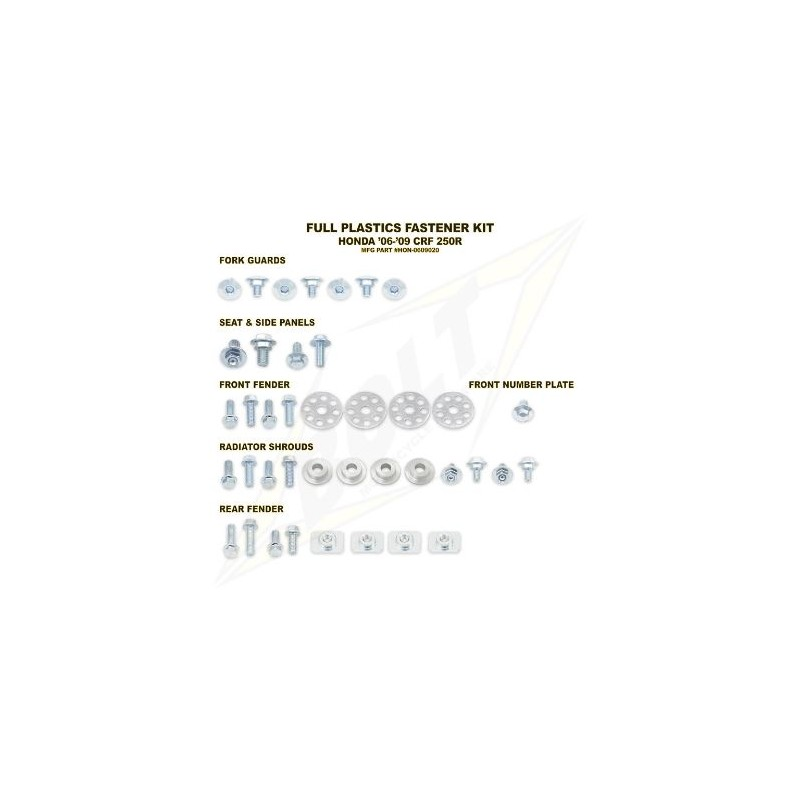 BOLT KIT VIS PLAST. HONDA06-09 CRF250R