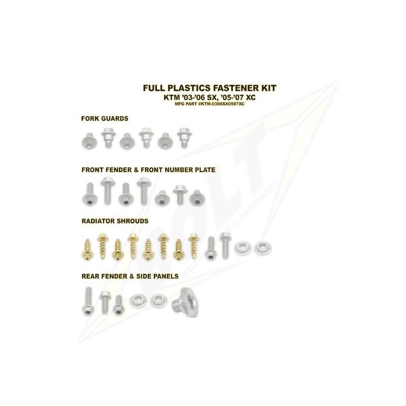 BOLT KIT VIS PLAST. KTM03-06 SX / 05-07 XC