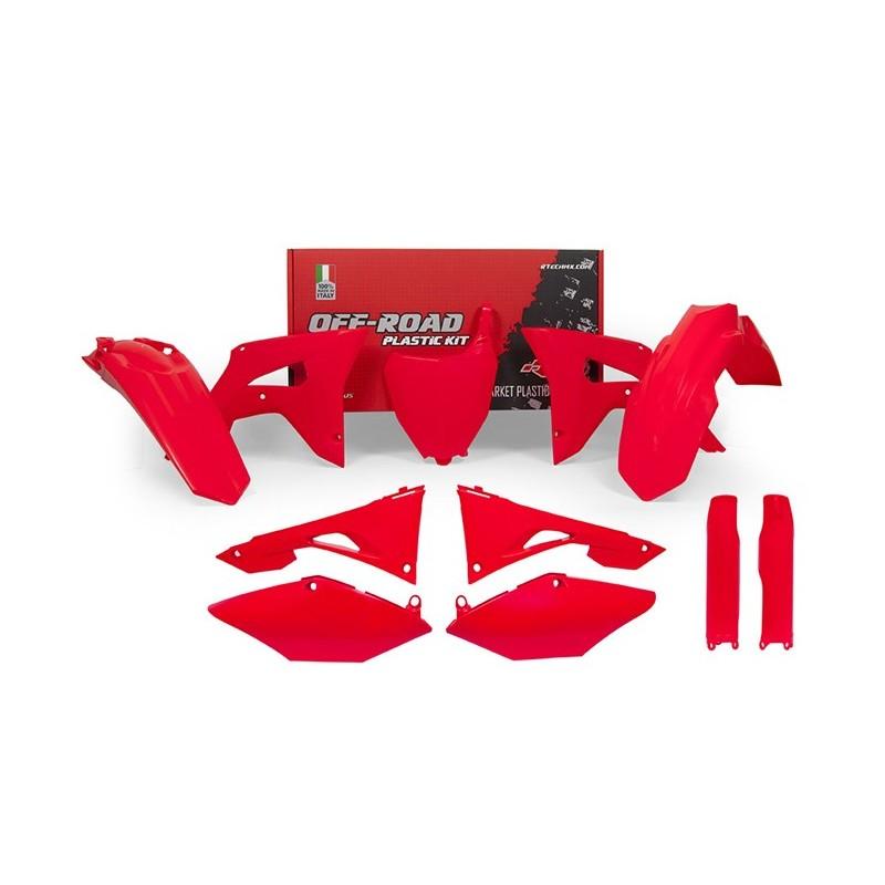 KIT PLASTIQUES RACETECHCRF250R 18 CRF450R 17-18 FLUO ROUGE