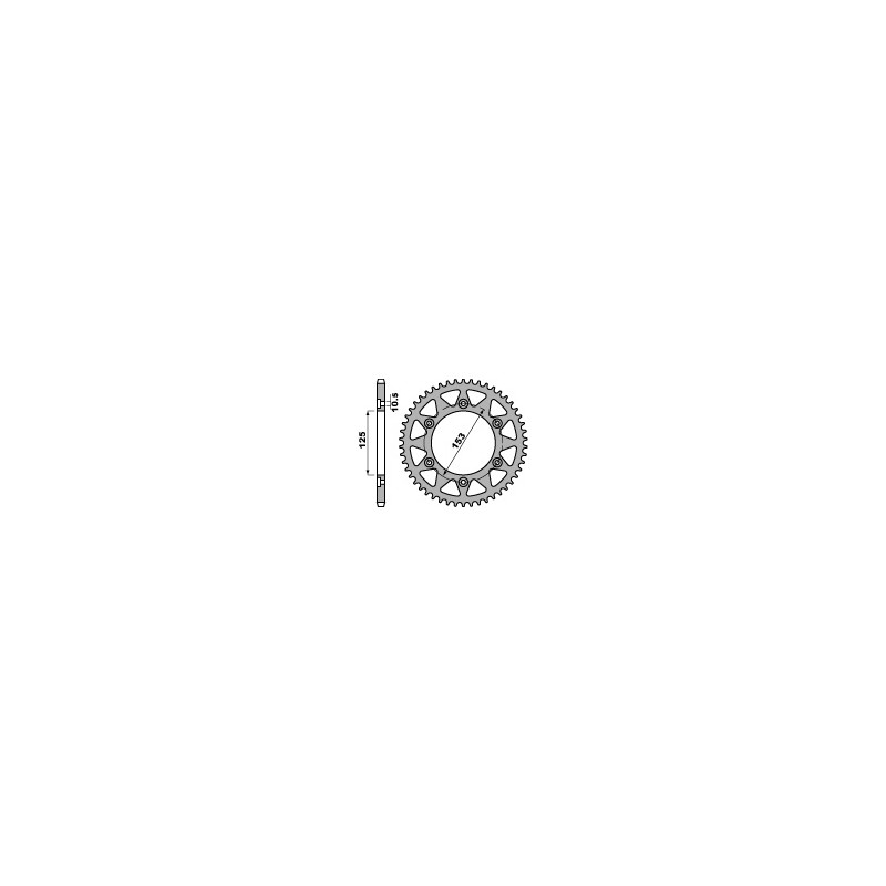 COURONNE ACIER 40 DENTSCRF250L '13 STEEL