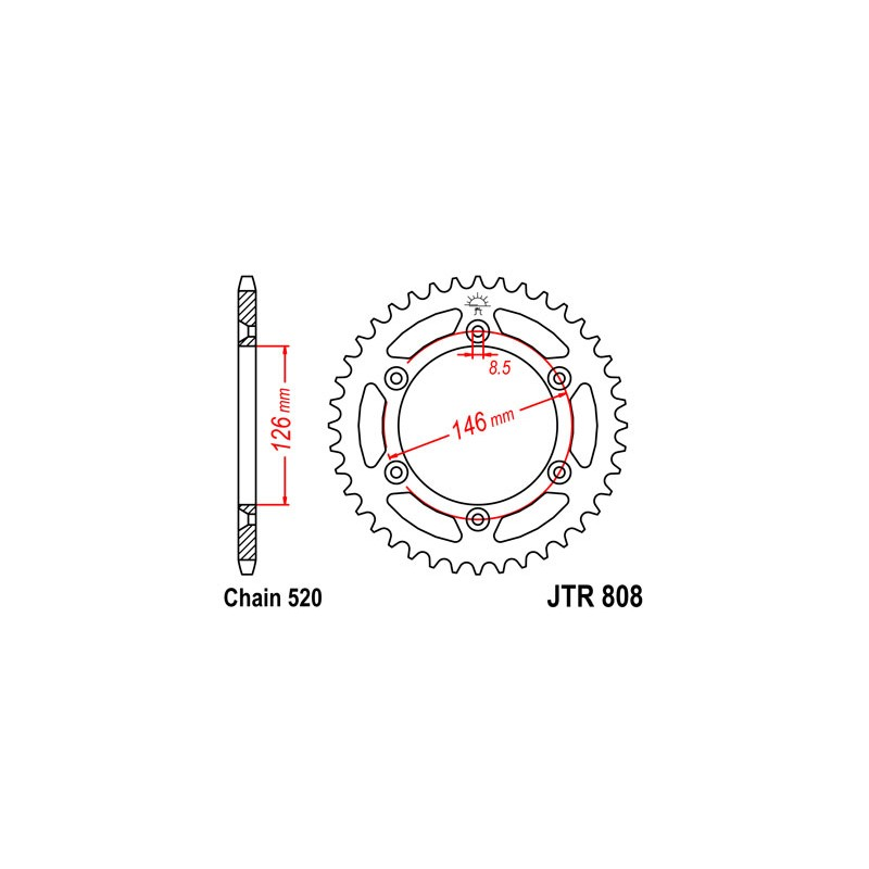 COURONNE ACIER 41 DENTSSUZUKI RM/RM-Z/DR-Z