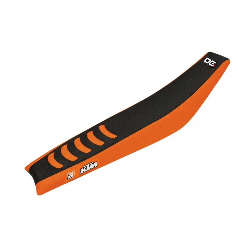 HOUSSE SELLE DOUBLE GRIP3SX/SX-F 125 &+ 98-06 NOIR ORANGE