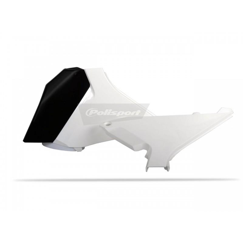 CACHE BOITE AIR POLISPORTSX-F250/350/450 11-12 SX125/250 11 BLANC