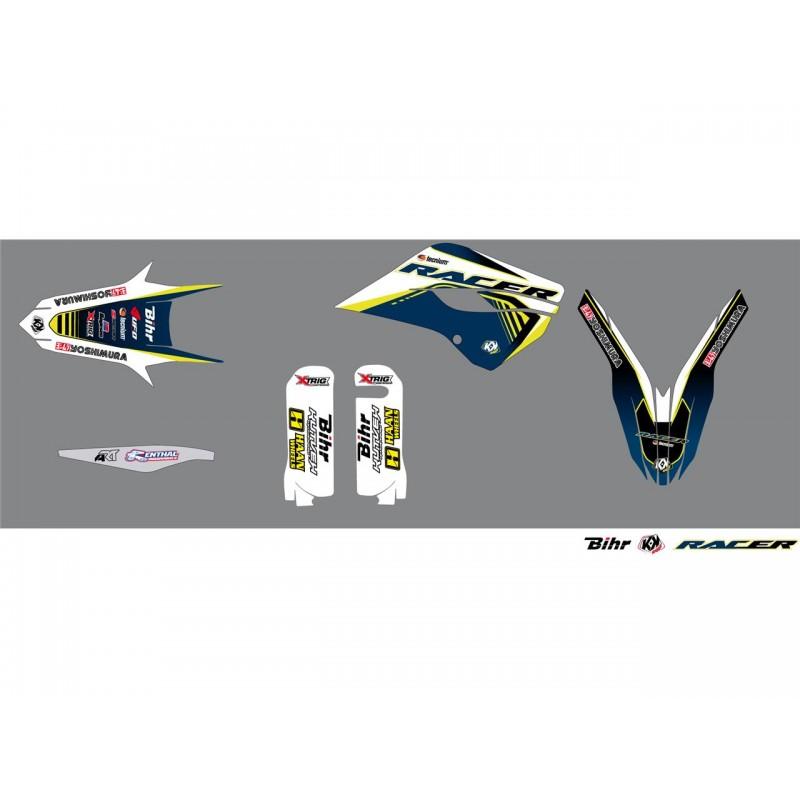 KIT DECO RACER KUTVEKTE/FE 125 & + 14-16 BLANC