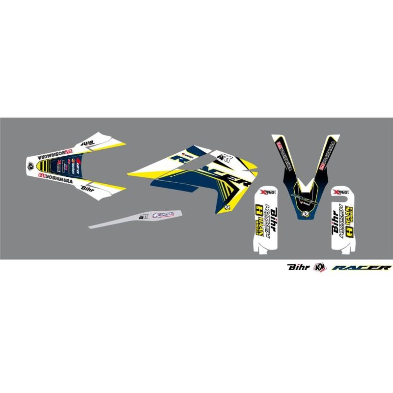 KIT DECO RACER KUTVEKTE/FE 125 & + 17 BLANC