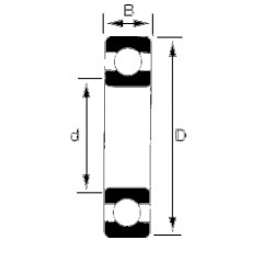 Roulement étanche 80x125x22 mm NTN 6016 lluC3