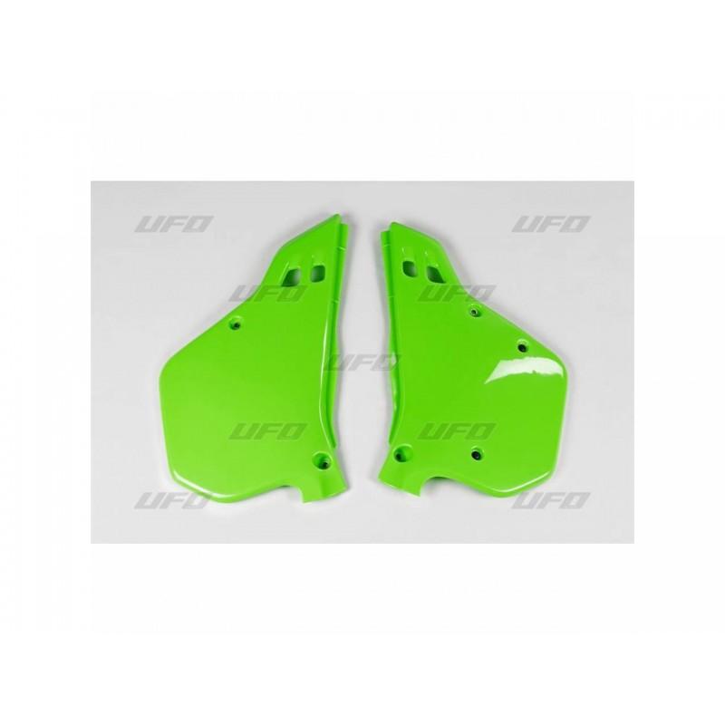 PLAQUES LAT. KX125-25090-91 VERT KX ORIGINE
