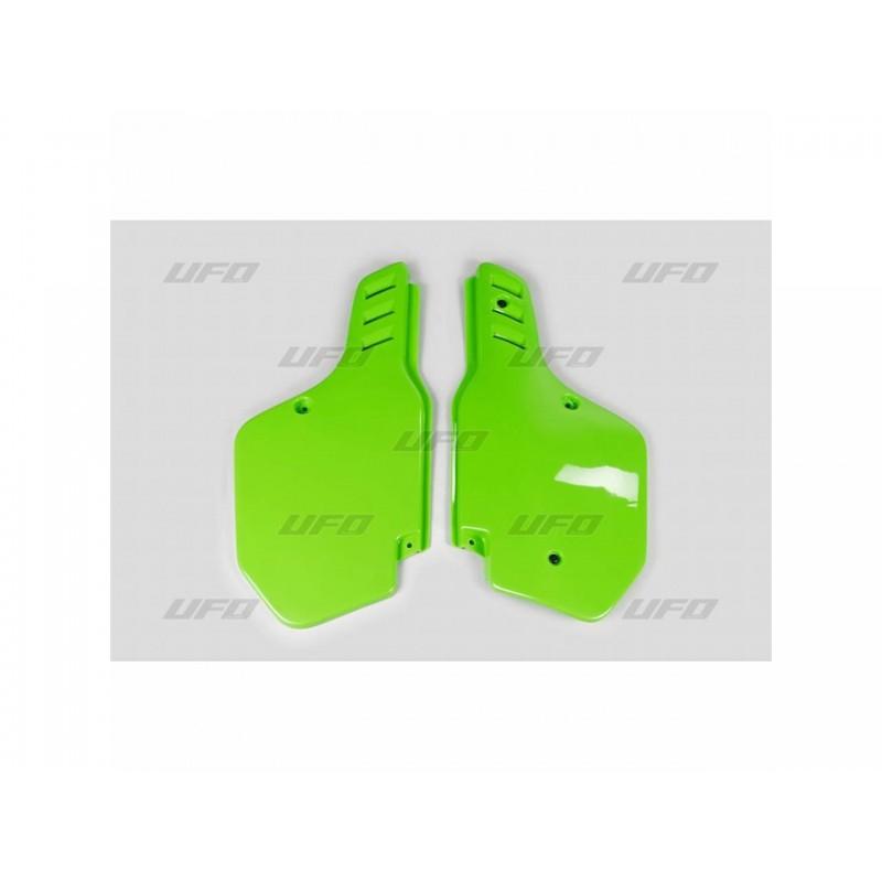 PLAQUES LAT. KX125-25088-89 / 500 88-02 VERT KX ORIGINE