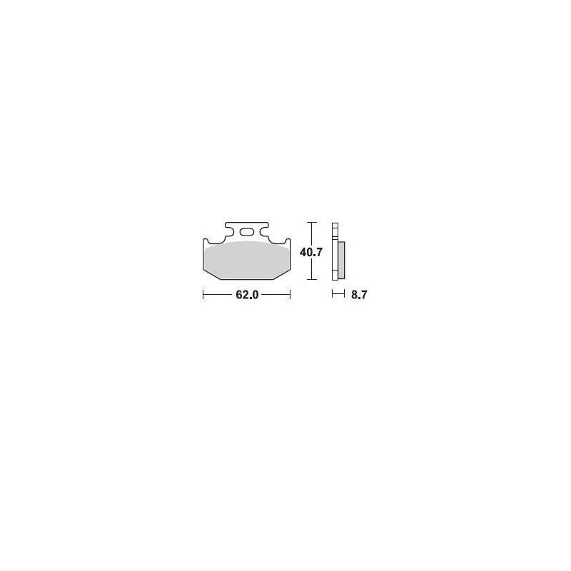 PLAQUETTE BRAKING 722CM44KX125/250 89-94 AR YZ125/250 90-97AR