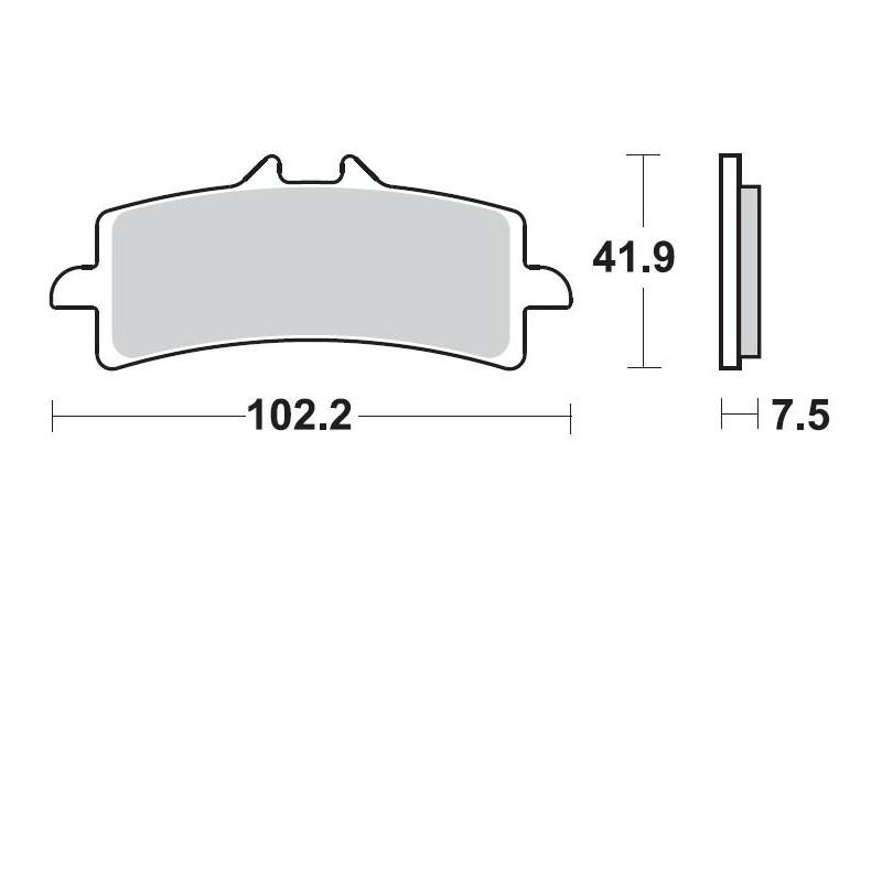 PLAQUETTE BRAKING 930CM661098/S HYPERMOTARD S USAGE PISTE UNIQUEMENT