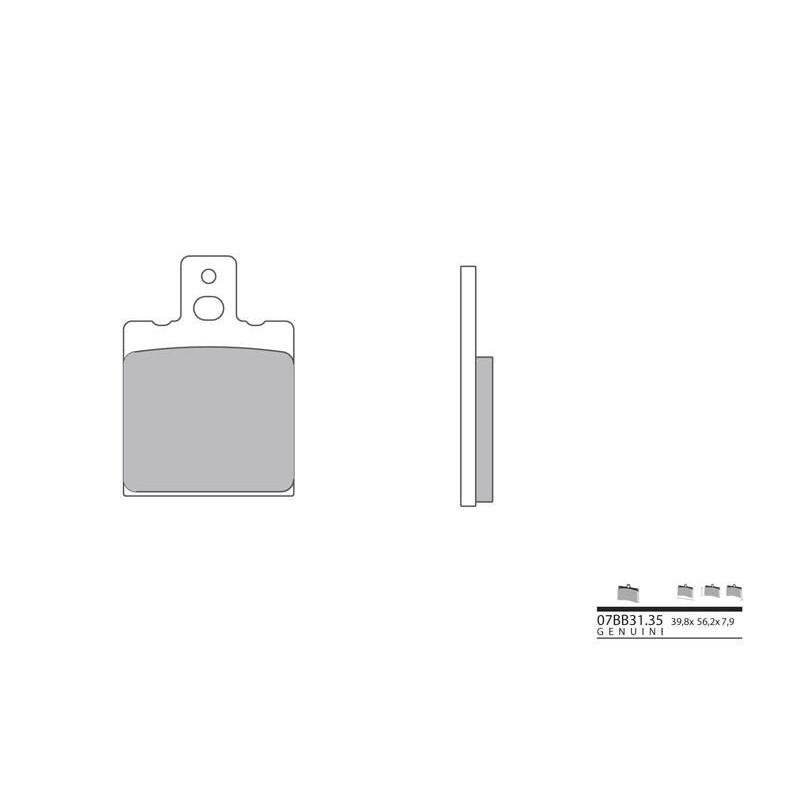 PLAQ.BREMBO.ORIG 07BB3135AR 750 SS 91-98 AR MONSTER 900 93-99