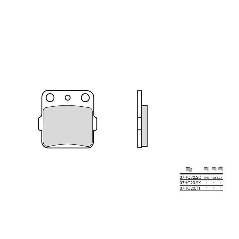 PLAQ.BREMBO 07HO20SDAR ATC200250350 '82-85
