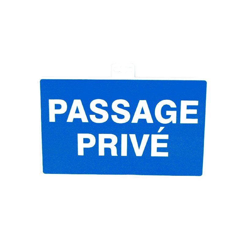 SIGNALETIQUE PASSAGE PRIVE