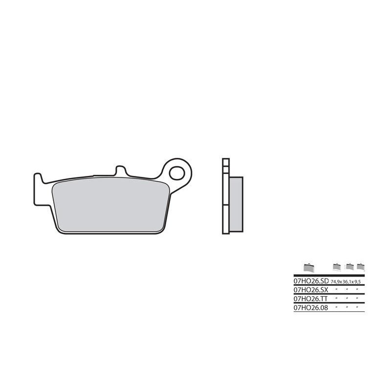 PLAQ.BREMBO 07HO26SDAV CR80 &85 '92-04 AR XR400R '96-