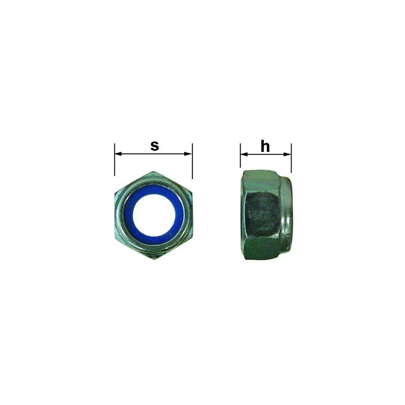ECROUS FREIN DIA. 06 CL 8 ZN DIN 985 (200)