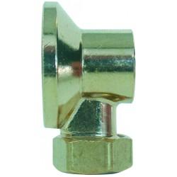 Applique avec écrou diamètre 14 mm chrome