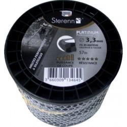 Fil nylon débroussailleuse platinium torsadé bi-matière Pro
