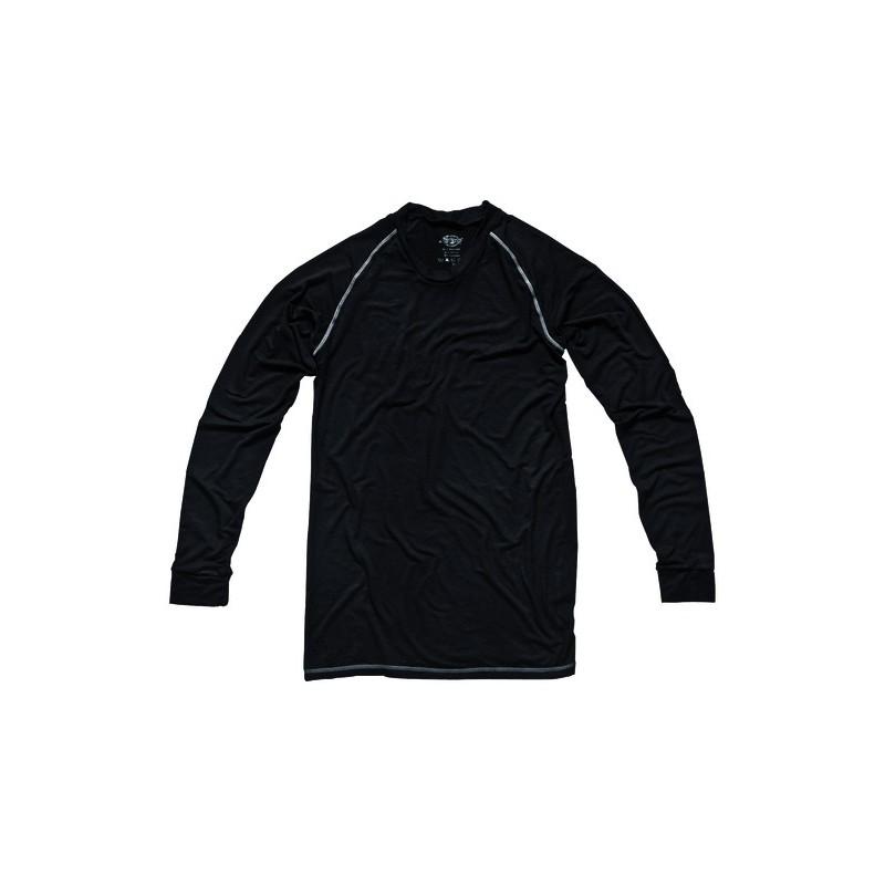 Sous-vêtement noir manches longues 65% bambou