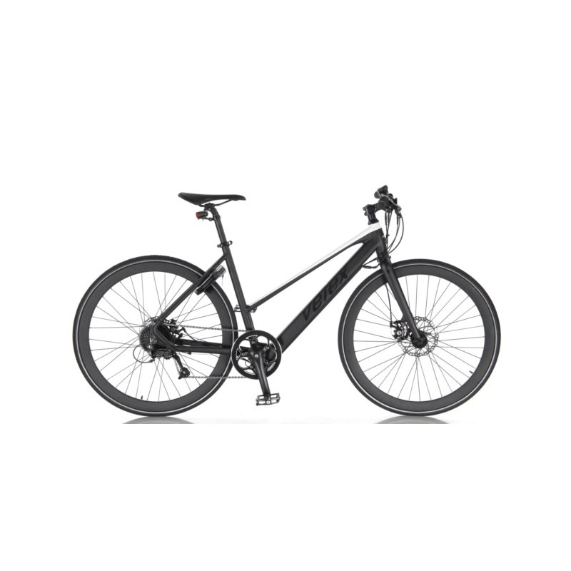 Vélo de route noir et blanc pour femme