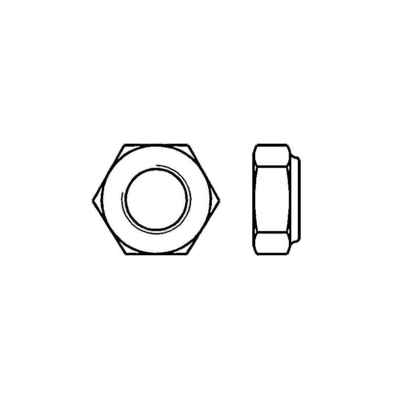 ECROUS FREIN DIA. 14 CL 8 ZN DIN 985 (100)