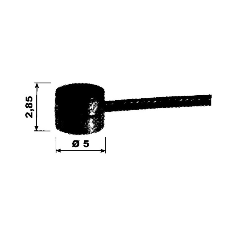 CABLE SOUPLE EMBOUT TAMBOUR 5 x 2.85 CABLE 1.2 MM