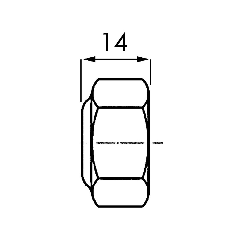 ECROU FREIN 6 PANS M14X150 AD.BOMFORD
