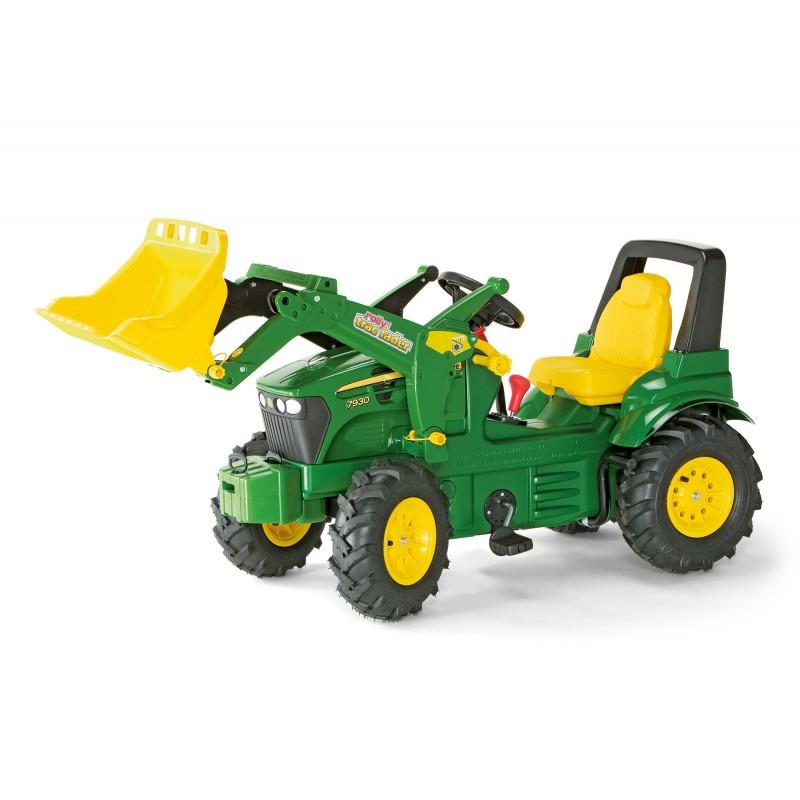 Tracteur à pédales John Deere 7930 avec chargeur et frein
