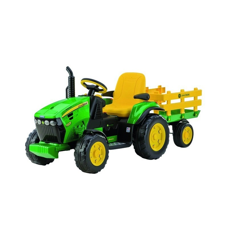 Tracteur John Deere Ground Force avec remorque