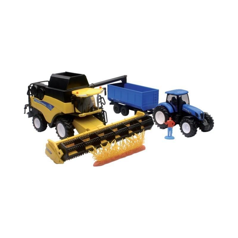 Tracteur et moissonneuse batteuse New Holland