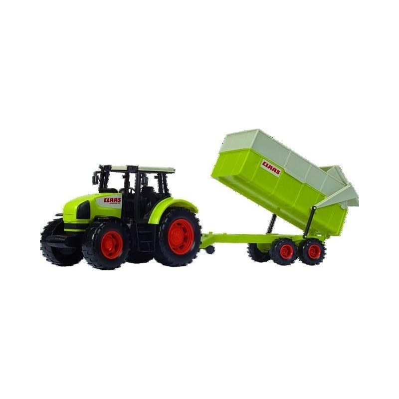 Tracteur et remorque Claas