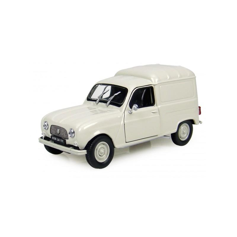 Camionnette Renault 4L F4 crème