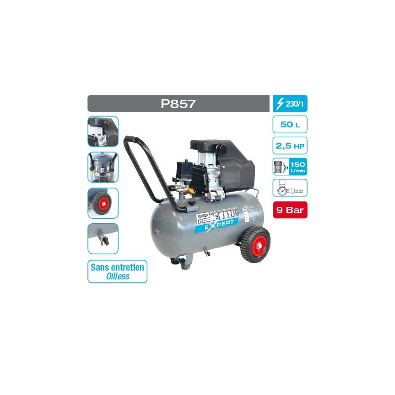 Compresseur 50 litres 2,5 cv 9 bars Prodif