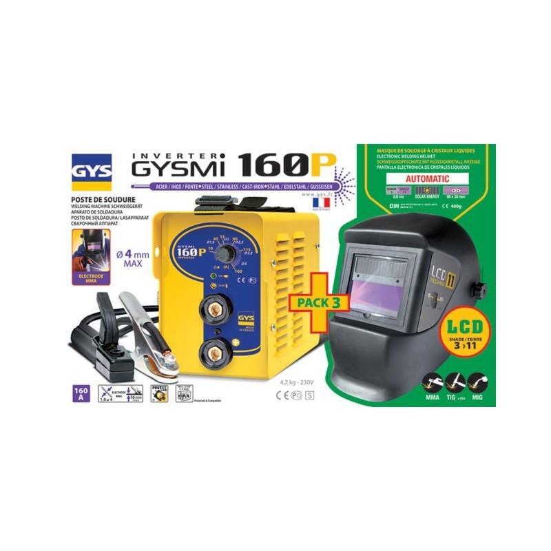 POSTE A SOUDER GYS 160P 30435 + MASQUE LCD 11