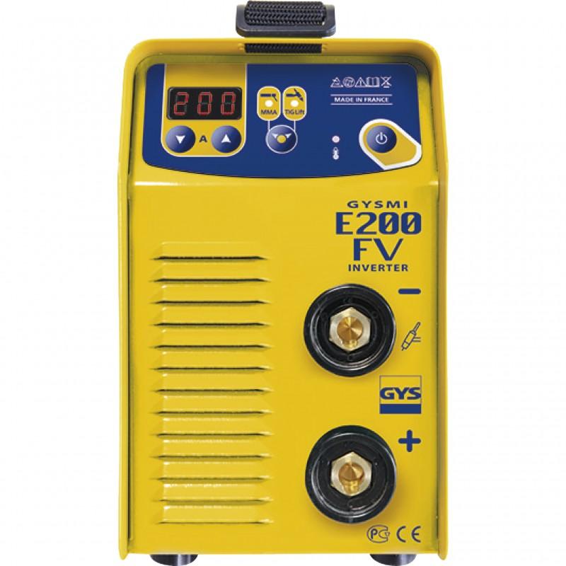 Poste à souder Inverter GYSMI E200 FV avec valise et accessoires