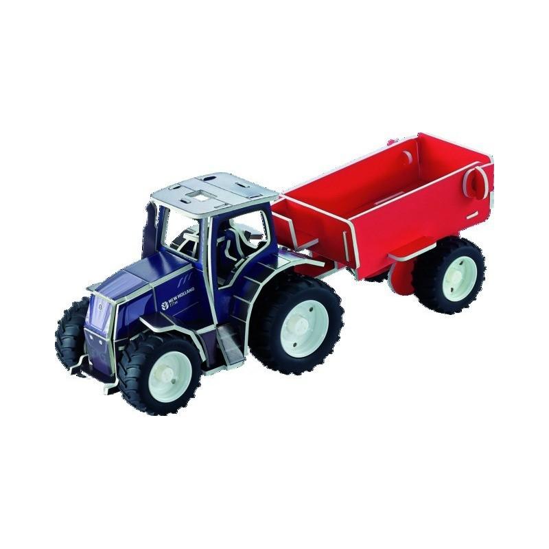 Puzzle 3D tracteur NEW HOLLAND T7.315 + remorque