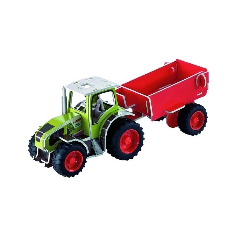 Puzzle 3D tracteur CLAAS AXION 950 + remorque
