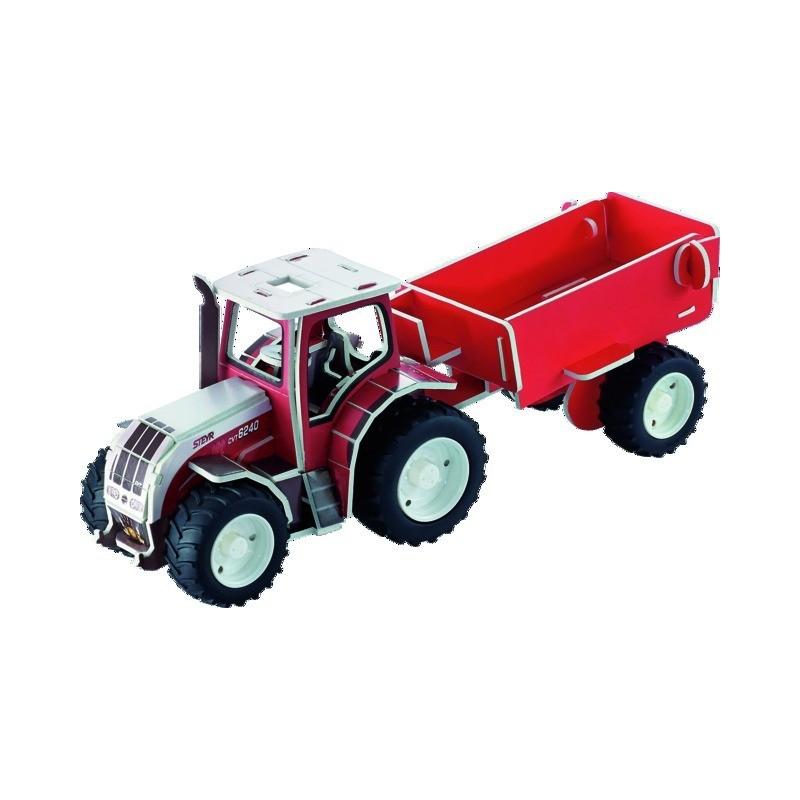 Puzzle 3D tracteur STEYR CVT6240 + remorque