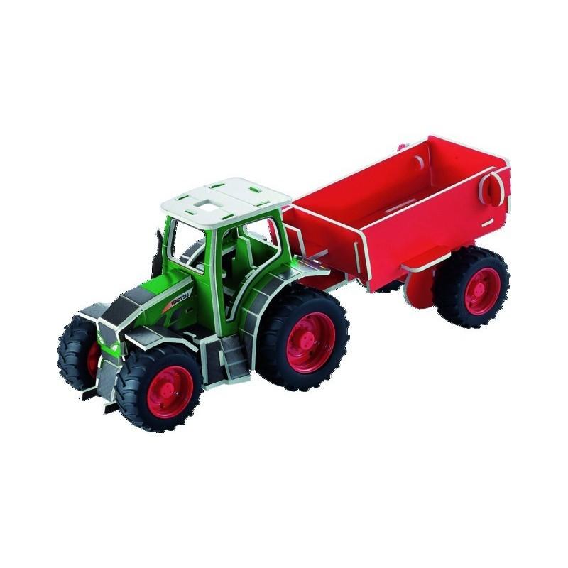 Puzzle3D tracteur FENDT VARIO 518 + remorque