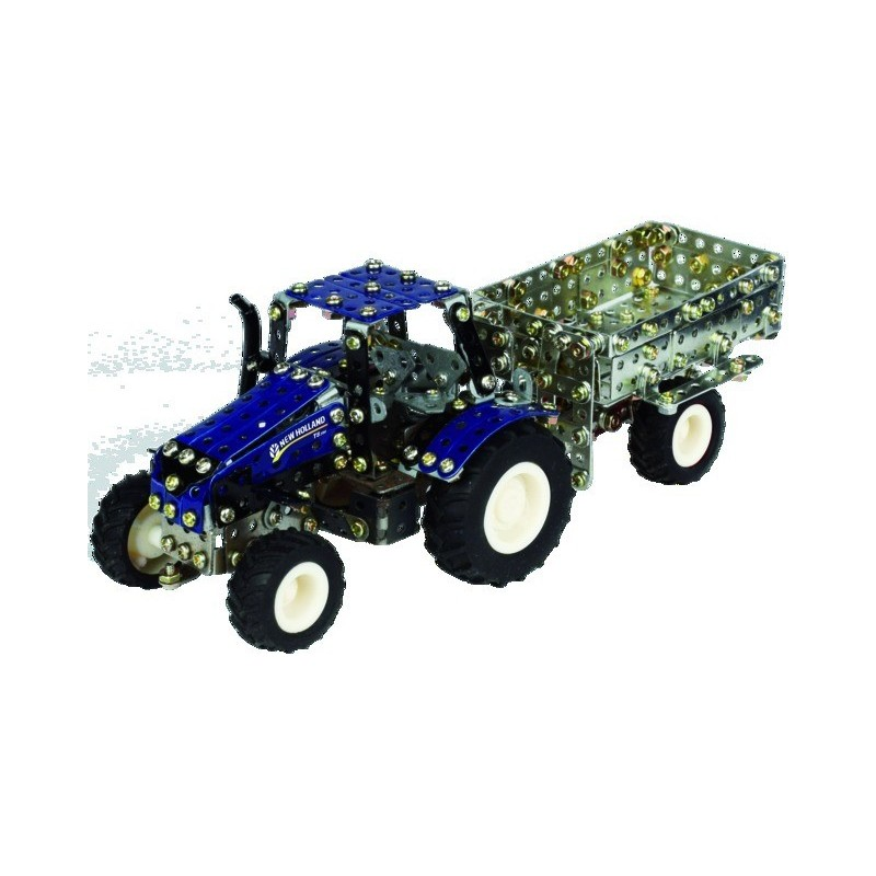 Micro-série - Tracteur NEW HOLLAND + Led + Remorque