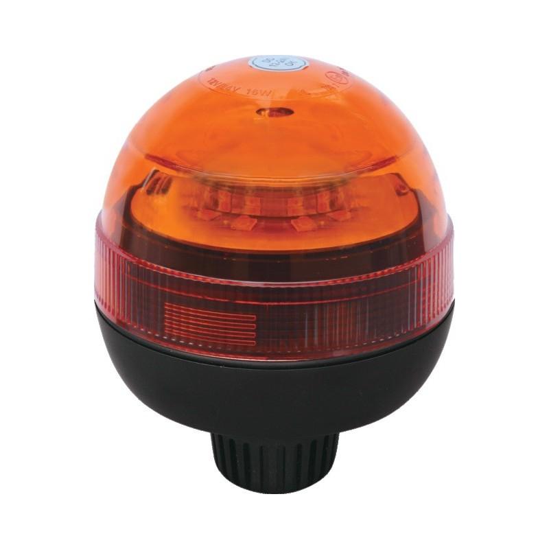 GYROPHARE LED 12/24V R65 TIGE COURTE