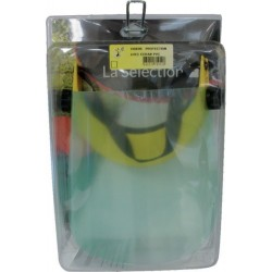 Visière de protection avec écran PVC fixe pour la motoculture