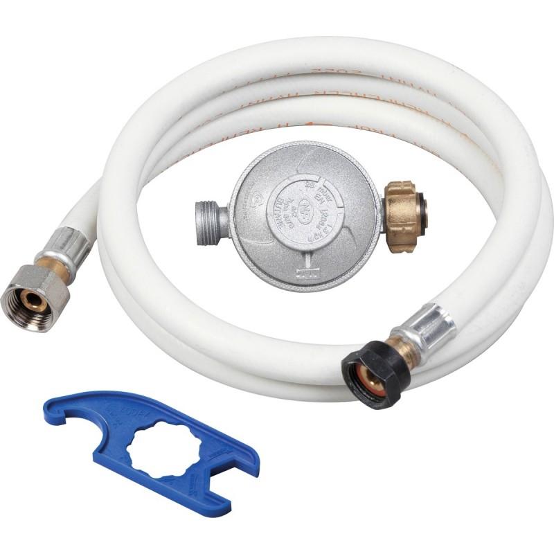 Ensemble tube GPL 1M50+detendeur butane+cle
