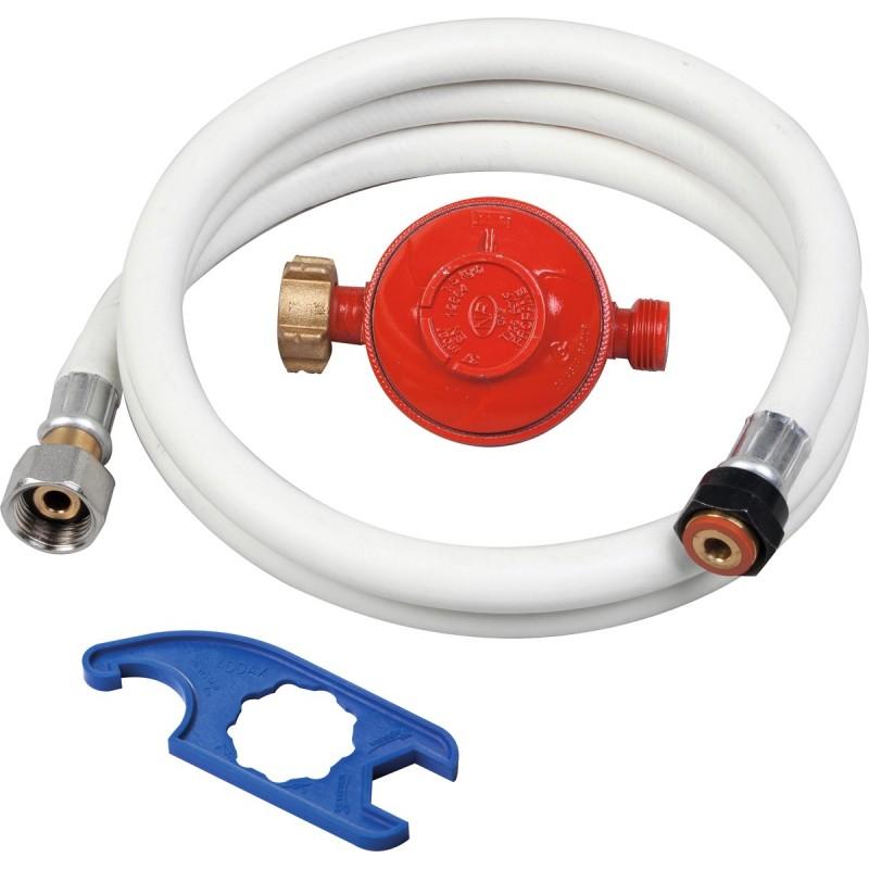 Ensemble tube GPL 1M50+detendeur propane+cle