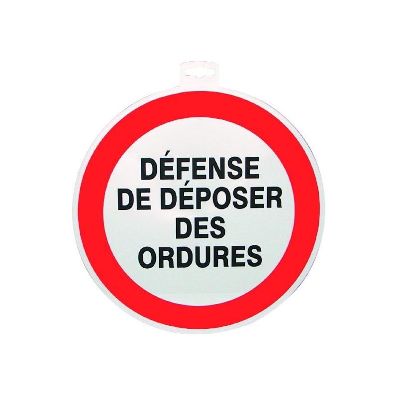 SIGNALETIQUE DEF. DE DEPOS. DES ORDURES