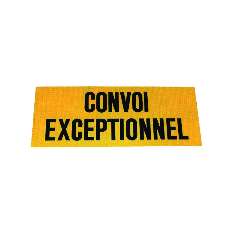 PANNEAU CONVOI EXCEPTIONNEL 1200X400 ALU PHOSPHO.