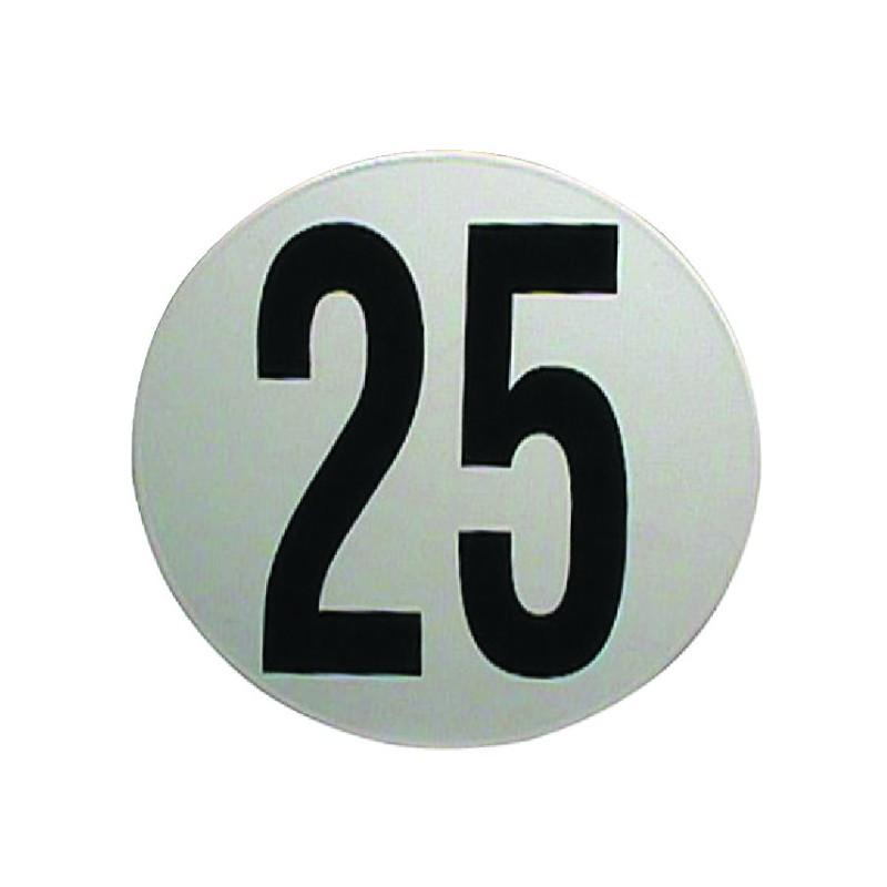 DISQUE ADHESIF LIMITATION DE VITESSE 25 KM/H