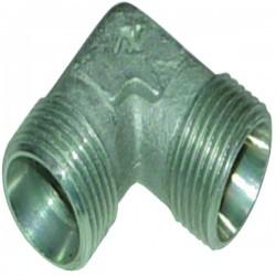Raccord hydraulique coudé mâle-mâle CE10 nu