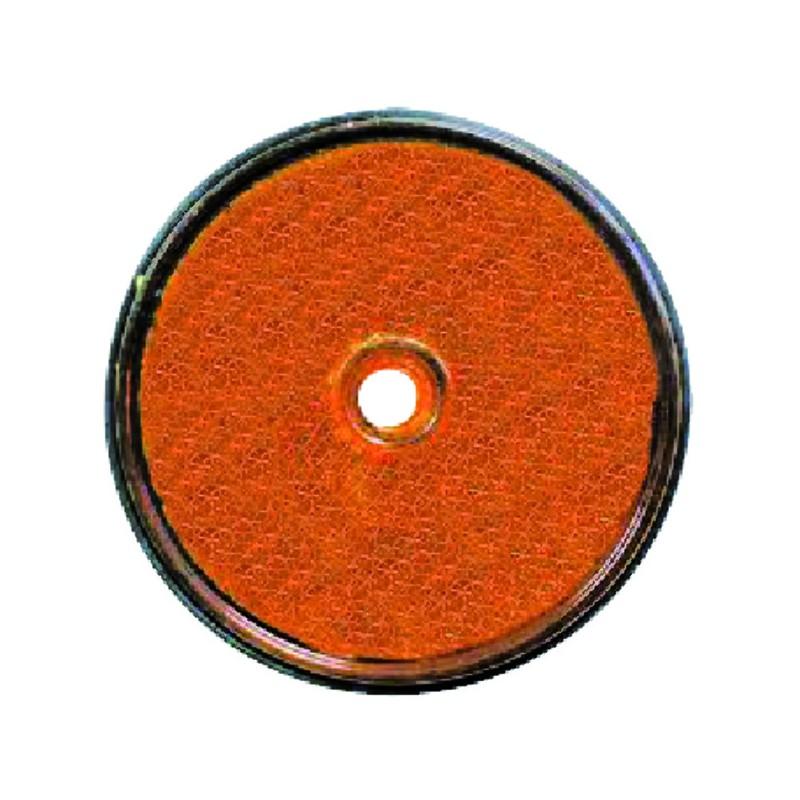 CATADIOPTRE ROND ORANGE D61 VRAC